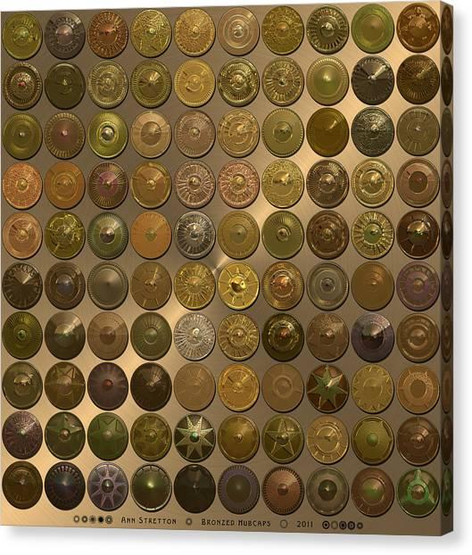 Bronzed Hubcaps Canvas Print