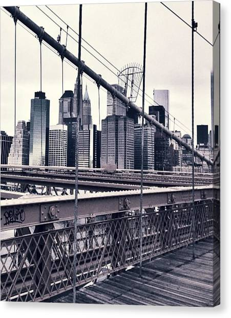 Brooklyn Bridge Canvas Print by CD Kirven
