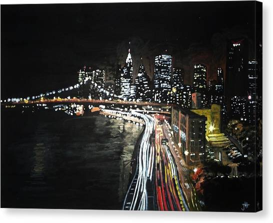 Canvas Print featuring the painting FDR by Jennifer Hotai
