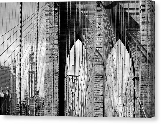 Brooklyn Bridge New York City Usa Canvas Print