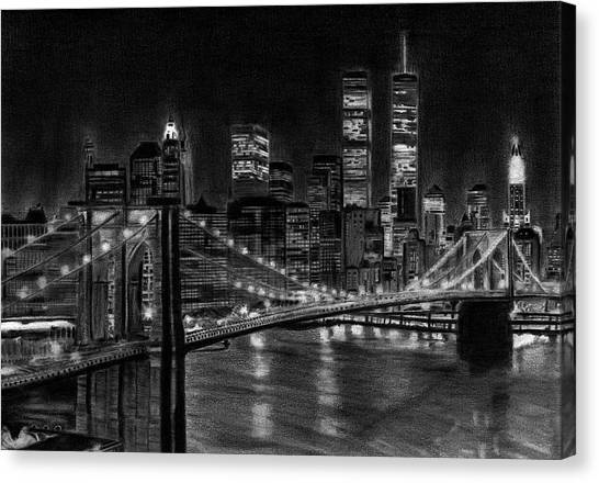 Brooklyn Bridge New York Canvas Print