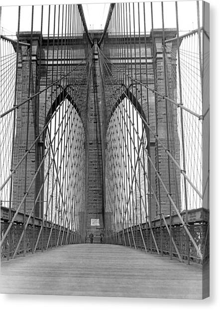 Brooklyn Bridge Promenade Canvas Print