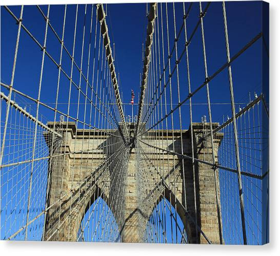 Brooklyn Bridge Tower Canvas Print