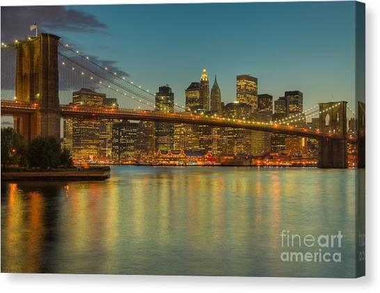 Brooklyn Bridge Twilight Canvas Print
