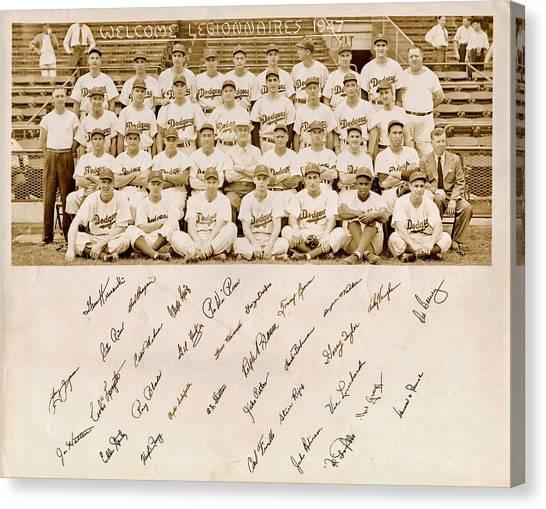 Brooklyn Dodgers Baseball Team Canvas Print