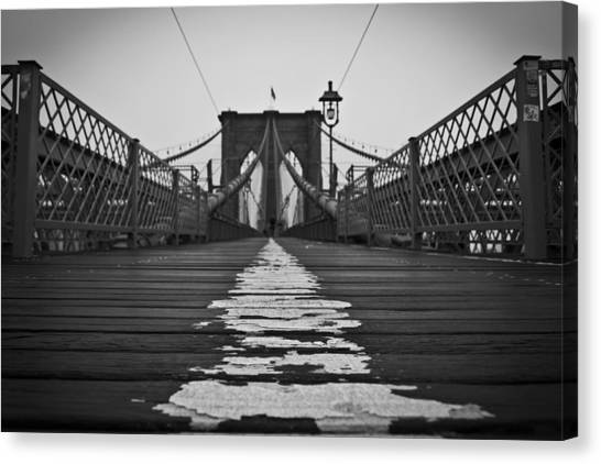 Brooklyn Lines Canvas Print by Michael Murphy