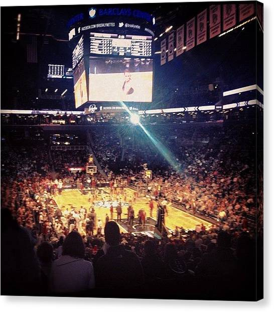 Basketball Teams Canvas Print - #brooklyn #nets #barclayscenter by Joshua White