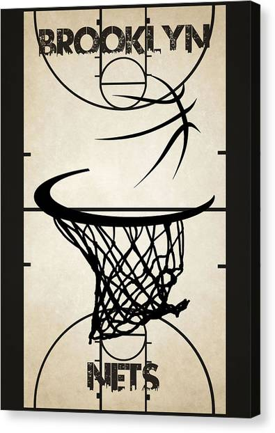 Brooklyn Nets Canvas Print - Brooklyn Nets Court by Joe Hamilton
