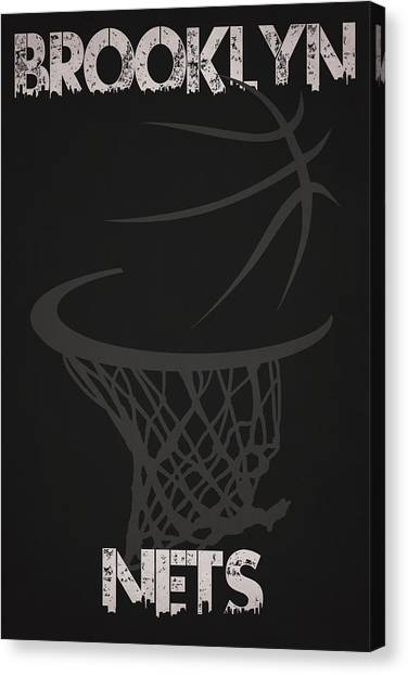 Brooklyn Nets Canvas Print - Brooklyn Nets Hoop by Joe Hamilton