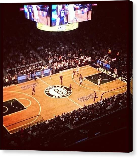 Basketball Teams Canvas Print - #brooklyn #nets by Ivan Maressov