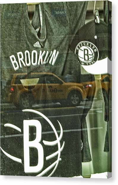 Brooklyn Nets Canvas Print - Brooklyn Nets by Karol Livote