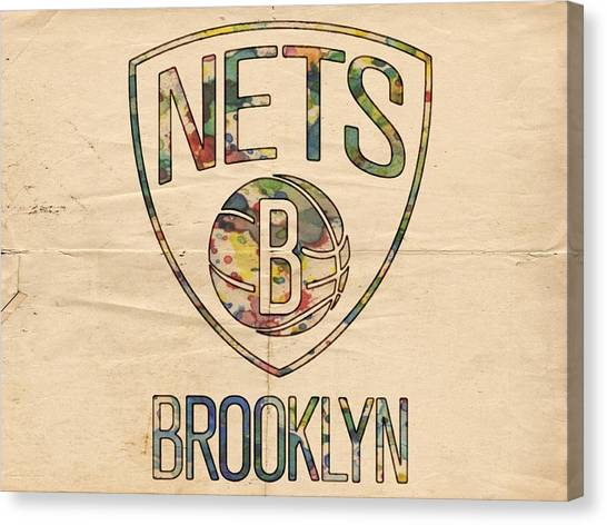 Brooklyn Nets Canvas Print - Brooklyn Nets Poster Art by Florian Rodarte