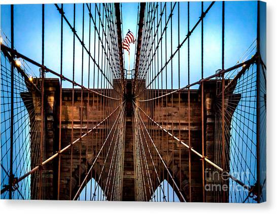 Driving Canvas Print - Brooklyn Perspective by Az Jackson