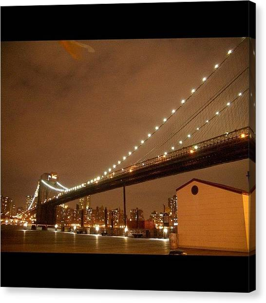 Big Sky Canvas Print - #brooklynbridge by Motorsports The Real