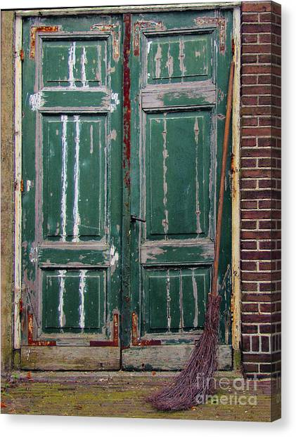 Broom Door Canvas Print