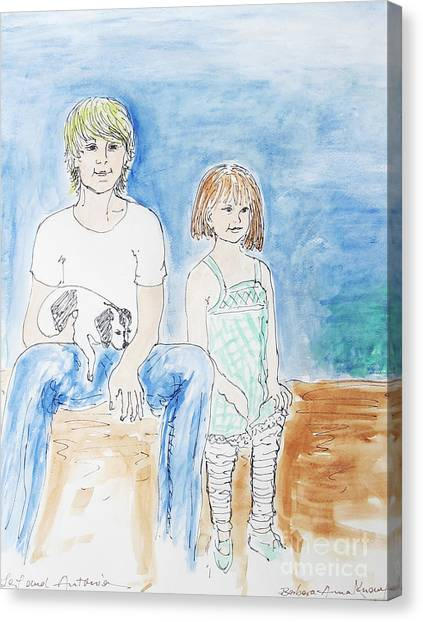 Canvas Print - Brother And Sister by Barbara Anna Knauf