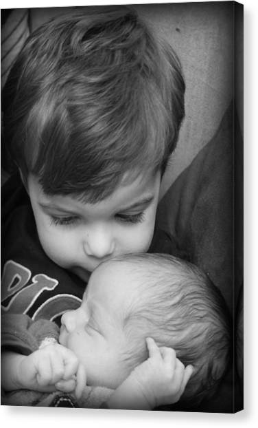 Canvas Print featuring the photograph Brotherly Love by Kelly Hazel