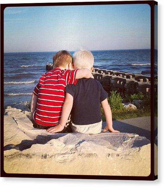 Lake Michigan Canvas Print - Brothers by Erin Britton