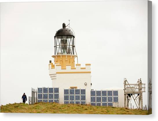 Global Warming Canvas Print - Brough Of Birsay Lighthouse by Ashley Cooper