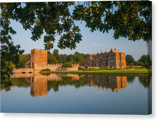 Broughton Castle Canvas Print by David Ross