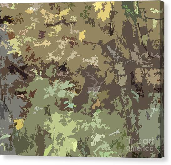 Green Camo Canvas Print - Brown And Green Camouflage Abstract Design Pattern Wood Hunters Camo by Minding My  Visions by Adri and Ray