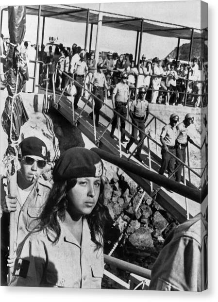 Racism Canvas Print - Brown Berets Leave Catalina by Underwood Archives