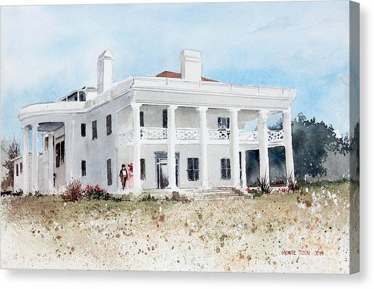 Brown Mansion Canvas Print