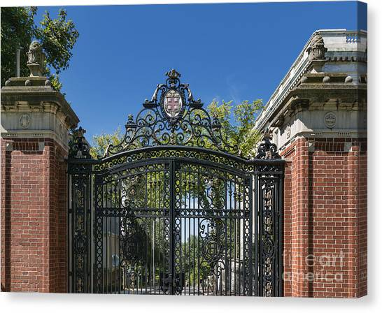 Brown University Canvas Print - Brown University Campus Gate by John Greim