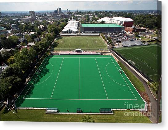 Brown University Canvas Print - Brown University Field Hockey by Anthony Salerno