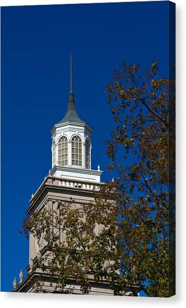 Austin Peay State University Canvas Print - Browning Administration Building Tower by Ed Gleichman