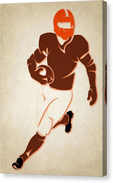 Cleveland Browns Canvas Print - Browns Shadow Player by Joe Hamilton