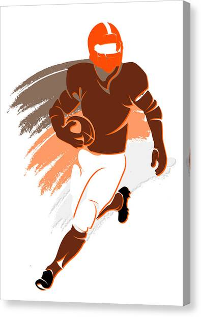 Cleveland Browns Canvas Print - Browns Shadow Player2 by Joe Hamilton