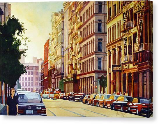 Brownstone Sunset Canvas Print