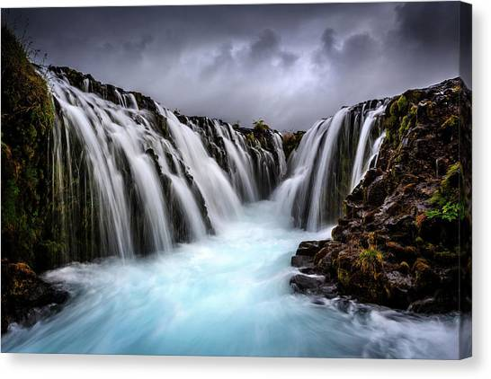 Waterfalls Canvas Print - Bruarfoss by Sus Bogaerts