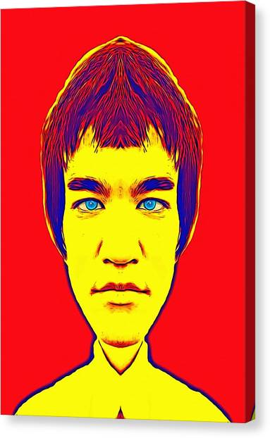 Bruce Lee Canvas Print - Bruce Lee Alias by Art Cinema Gallery