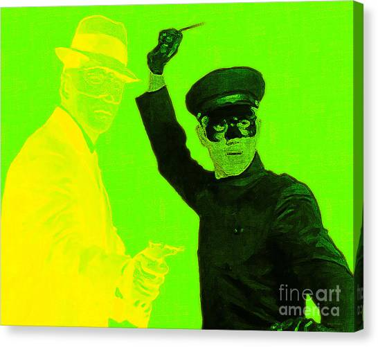Kung Fu Canvas Print - Bruce Lee Kato And The Green Hornet 20130216p54 by Wingsdomain Art and Photography
