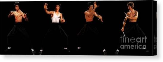 Bruce Lee - Times Four Canvas Print