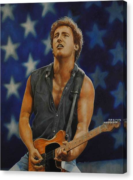 Bruce Springsteen 'born In The Usa' Canvas Print