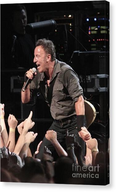 Folk Singer Canvas Print - Musician Bruce Springsteen by Concert Photos