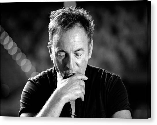 Bruce Springsteen Media Call Canvas Print