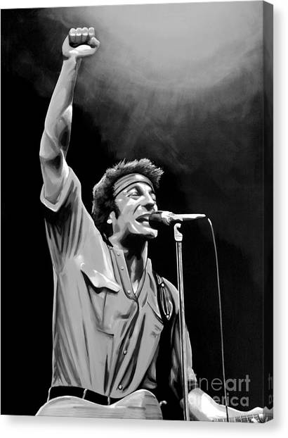 Bruce Springsteen Canvas Print - Bruce Springsteen by Meijering Manupix