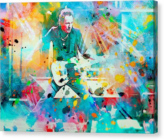 Bruce Springsteen Canvas Print - Bruce Springsteen  by Rosalina Atanasova