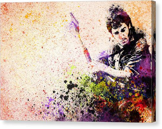 Bruce Springsteen Canvas Print - Bruce Springsteen Splats 2 by Bekim Art