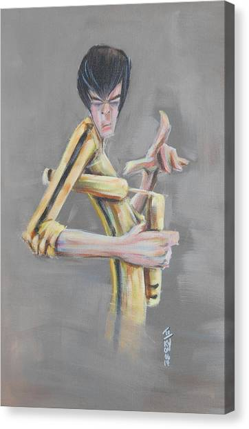 Bruce Lee Canvas Print - Bruce  by Tu-Kwon Thomas