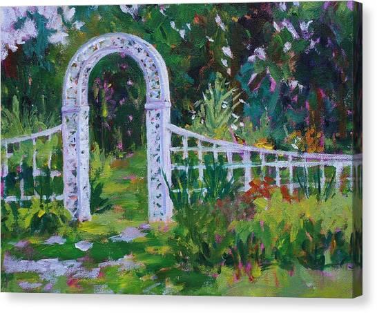 Brucemore Garden Gate Canvas Print