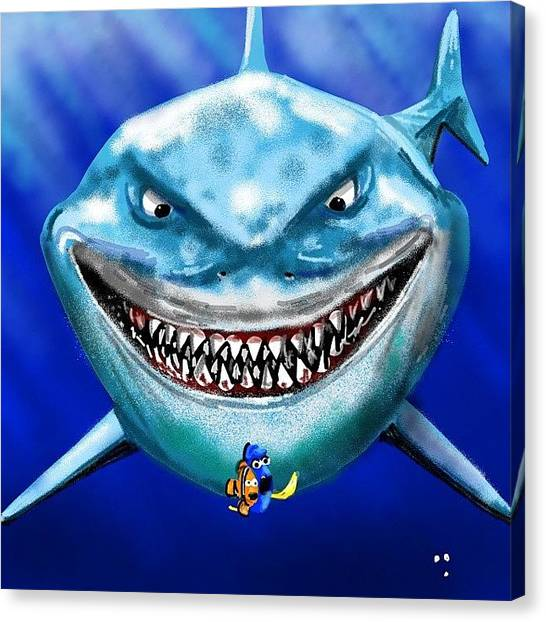 Hammerhead Sharks Canvas Print - #brucetheshark #shark #sharkds2 #nemo by David Burles