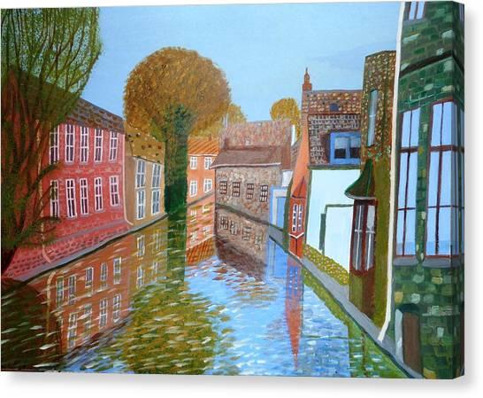 Brugge Canal Canvas Print