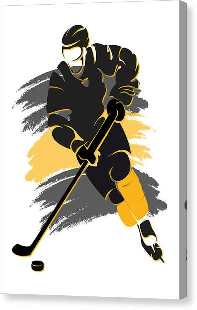 Boston Bruins Canvas Print - Bruins Shadow Player2 by Joe Hamilton