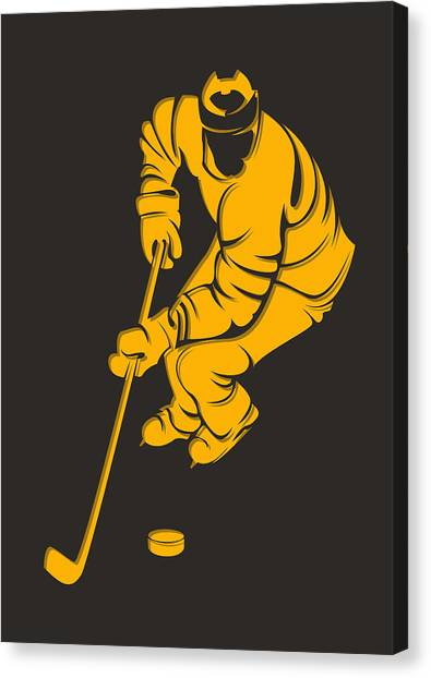 Boston Bruins Canvas Print - Bruins Shadow Player3 by Joe Hamilton
