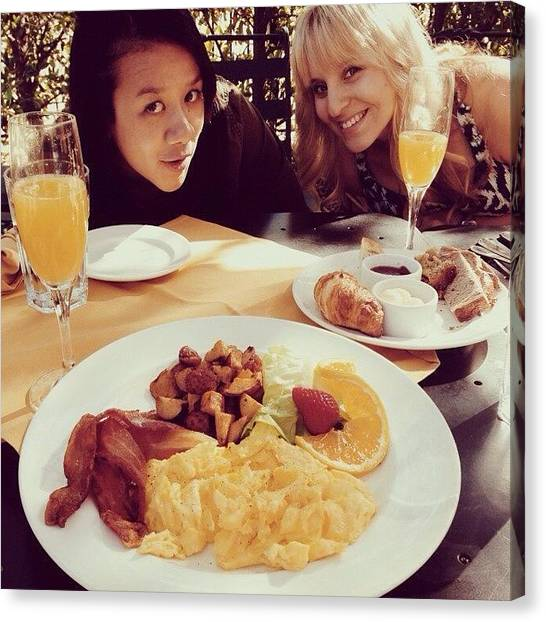 Mimosa Canvas Print - Brunch With The Ladies. #lp #mimosas by Taylor Marquez